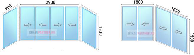 Цена на раздвижные пластиковые окна на балкон