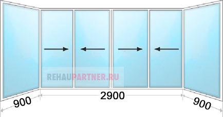 Цена на алюминиевое остекление балкона