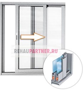 Раздвижное остекление балконов и лоджий алюминиевым профилем