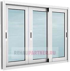 Окна на балкон из алюминия