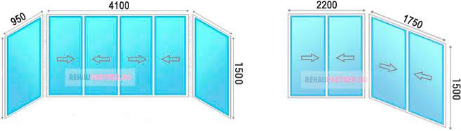 Остеклить балкон 4 метра алюминиевым профилем