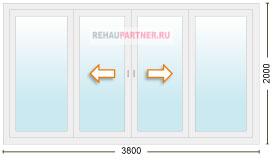 Цена на раздвижные стеклянные двери