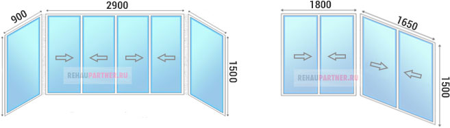 Остекление балконов алюминием недорого