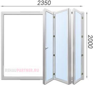 Дверь ПВХ гармошка - цена