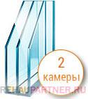 Характеристики двухкамерных стеклопакетов