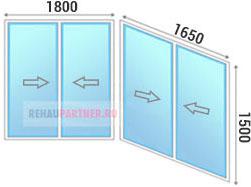 Цены на холодное остекление балкона алюминиевым профилем в Москве