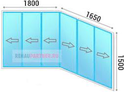 Цены на холодное остекление балкона