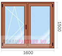 Цена на коричневые окна