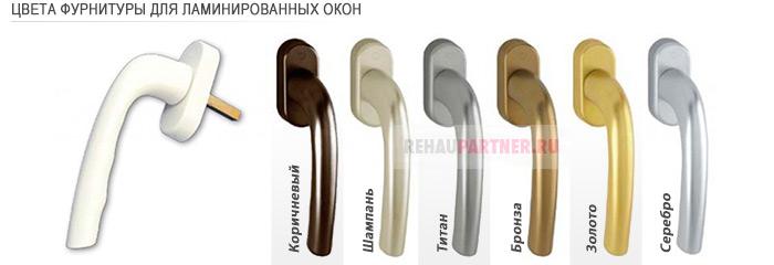Фурнитура для коричневых пластиковых окон