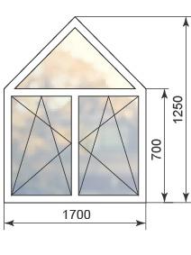Цена на пятиугольное окно