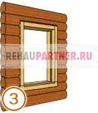 Деревянные окна окосячка