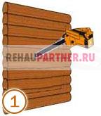 Монтаж окна в деревянном доме