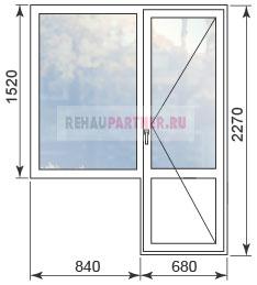Цены на окна в домах серии 1-515-9М