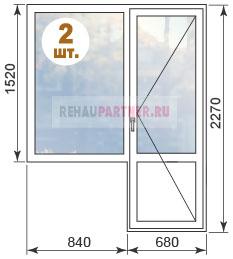 Стоимость остекления в домах серии 1-515-9М