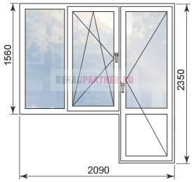 Цены на ПВХ окна для домов 1605-9