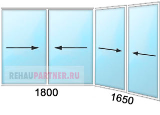 Цена на раздвижные окна из алюминиевого профиля