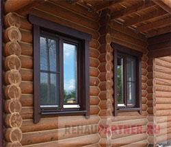 Окна для бани из бруса