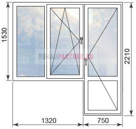 Цены на ПВХ окна в домах серии II-18-9