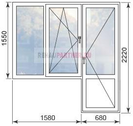 Стоимость остекления квартир в домах II-68-2