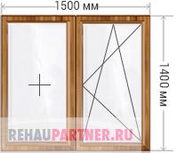 Цена на деревянные окна из дуба