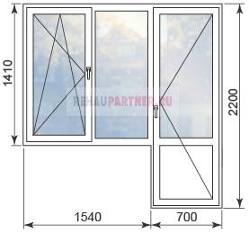 Цены на окна стандартных размеров в домах П44М