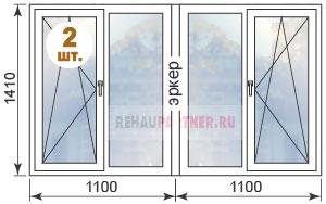 Цены на ПВХ окна в домах П-44М