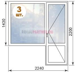 Стоимость пластиковых окон в домах П55
