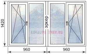 Цены на пластиковые окна в домах П44Т