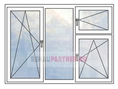 Цены на пластиковые окна с форточкой