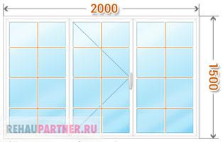 Цена на окна со шпросами