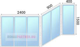 Цены на остекление балконов П-44