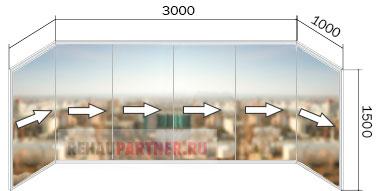Остекление балконов стоимость под ключ