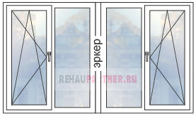 Цены на окна-эркеры в домах КОПЭ-М «Парус»