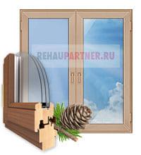 Деревянные окна для коттеджа