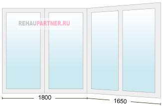 Остекление балкона ПВХ конструкциями