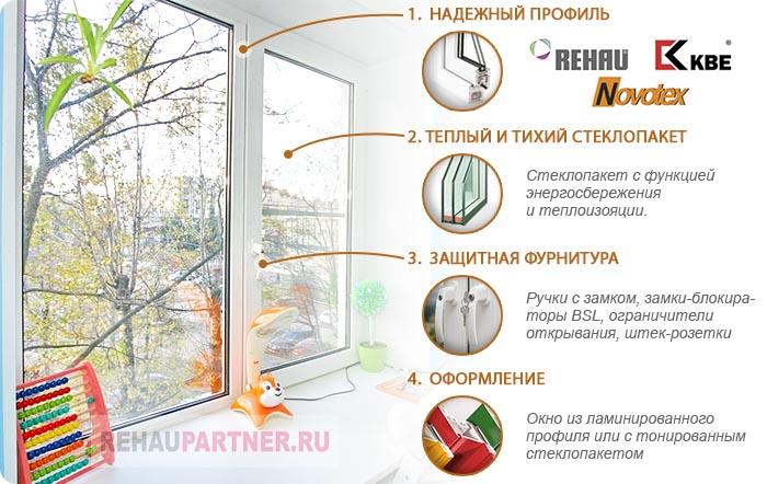 Пластиковые окна с защитой от детей