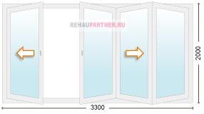 Сколько стоят раздвижные двери гармошка