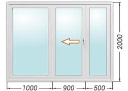 Цена на балконные сдвижные двери