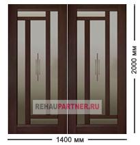 Двустворчатые сдвижные межкомнатные двери