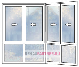Остекление раздвижными пластиковыми окнами