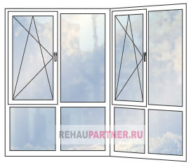 Распашные панорамные ПВХ окна