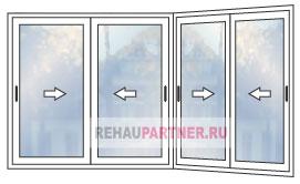 Цены на раздвижные окна из алюминиевого профиля для террасы