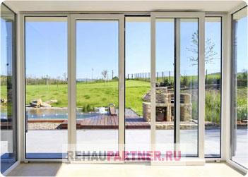 Раздвижные теплые окна для террасы