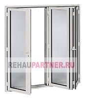 Алюминиевые окна-гармошка