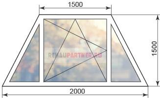Пластиковое окно-трапеция