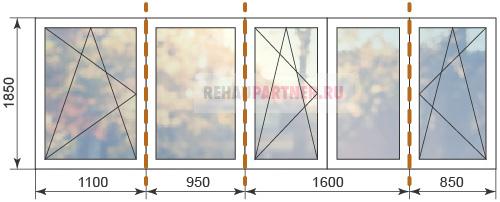 Цены на пластиковые угловые окна